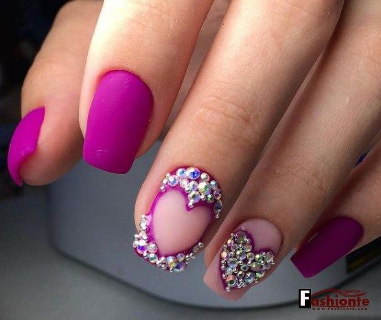 22 Easy Cute Valentines Day Nail Art Designs, Ideas, Trends...