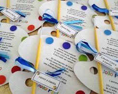 Convite Infantil Aquarela
