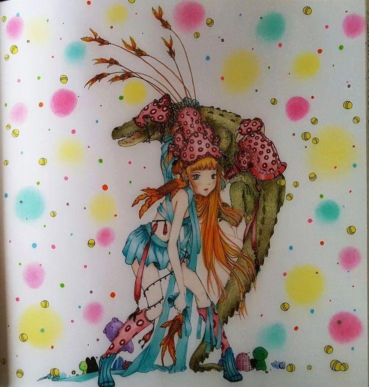 Pop Manga Coloring Book Fresh Camilla D Errico Pop Manga Coloring Book Coloured By Zsuzsicolouring Col Manga Coloring Book Mermaid Coloring Book Coloring Books