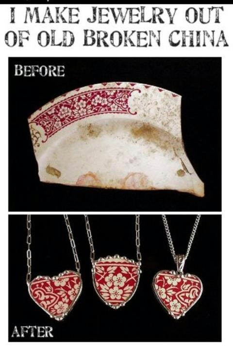 Old broken China reused