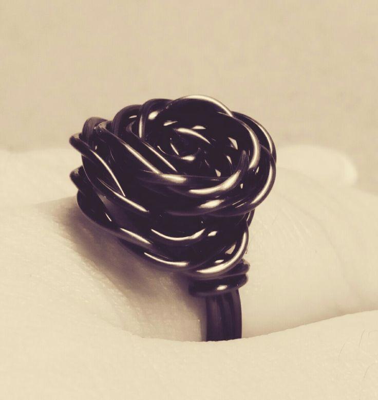 Smokey quartz rose ring