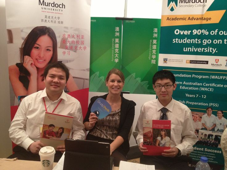 Here's one of our Murdoch Uni reps at a StudyPerth exhibition in Shanghai promoting Murdoch University!