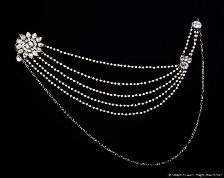 Silver Flower Saree Brooch
