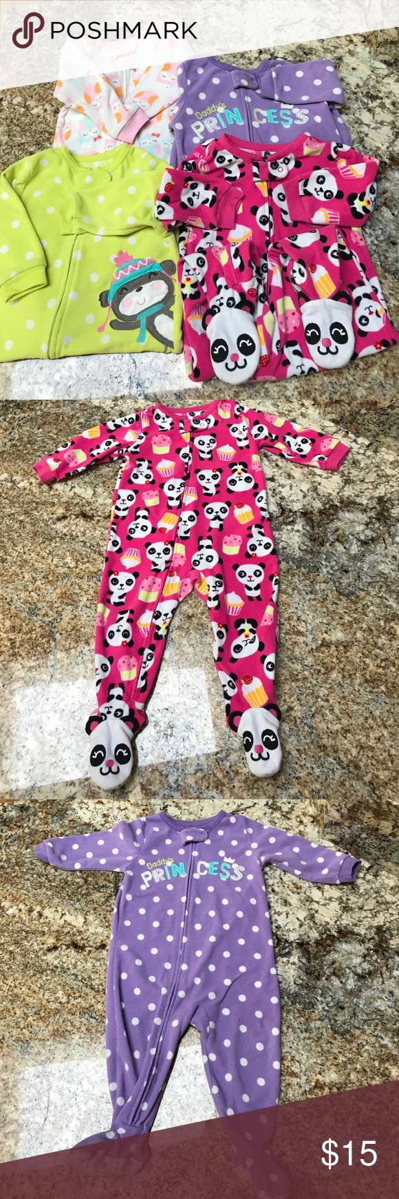😴Carter's fleece pajama bundle. 4 piece bundle😴 Fleece pajamas are in good used condition. The owl set had a stain on the seat as pictured. Please let me know if you have any questions. I 💗 bundles❗️I even love to bundle my bundles with other bundles Carter's Pajamas