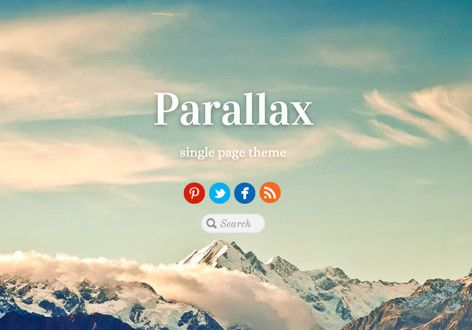 Parallax A Single Page Scrolling Responsive WordPress Theme By Themify
