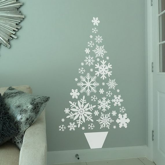 60 Wall Christmas Tree � Alternative Christmas Tree Ideas