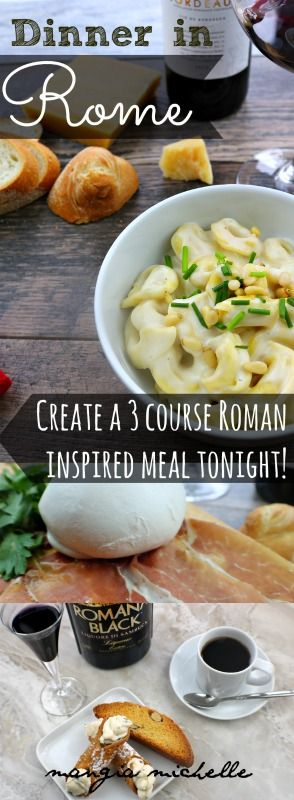 Do you want to make an easy Italian 3 course meal? You should make dinner in Rome. This menu includes an easy 3 course Italian meal you can make at home.