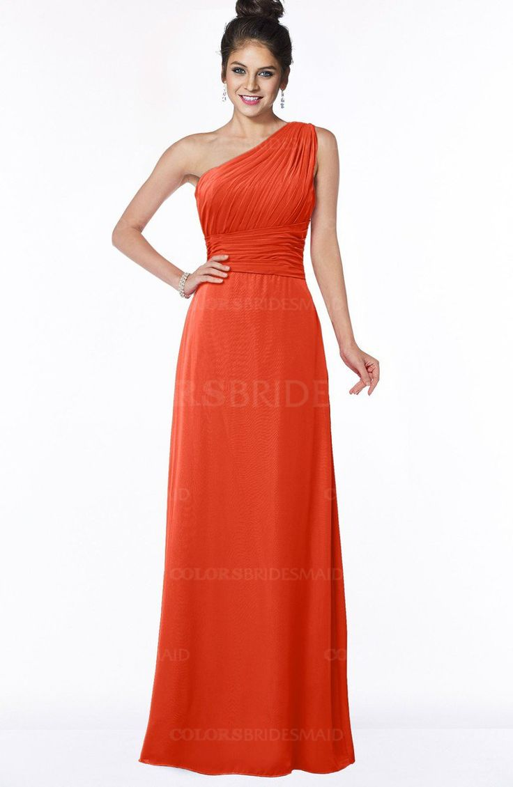 Tangerine Tango Mature Sheath Sleeveless Half Backless Chiffon Ruching Bridesmaid Dresses