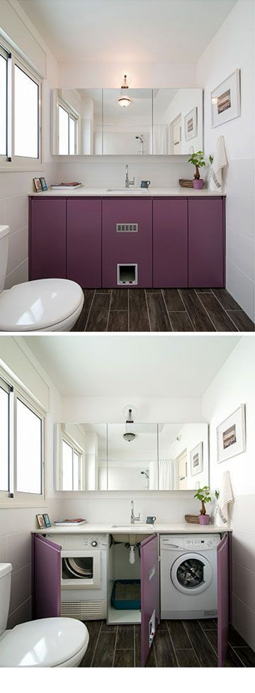 23 Creative Ways To Hide A Washing Machine In Your Home - DigsDigs