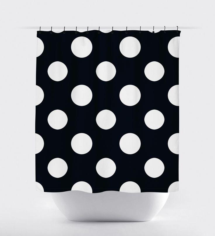 black polka dot shower curtain cayden curtains pink polka dots polka dots. Black Bedroom Furniture Sets. Home Design Ideas