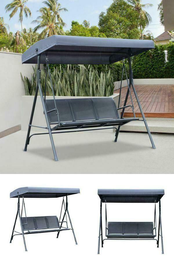 Phenomenal Outdoor Swing Chair Garden Patio Lawn Balcony Porch 3 Seater Creativecarmelina Interior Chair Design Creativecarmelinacom