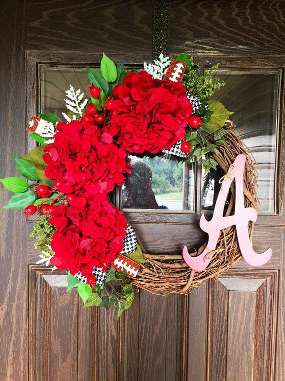 Grapevine Wreath Alabama Football Wreath Roll Tide Wreath
