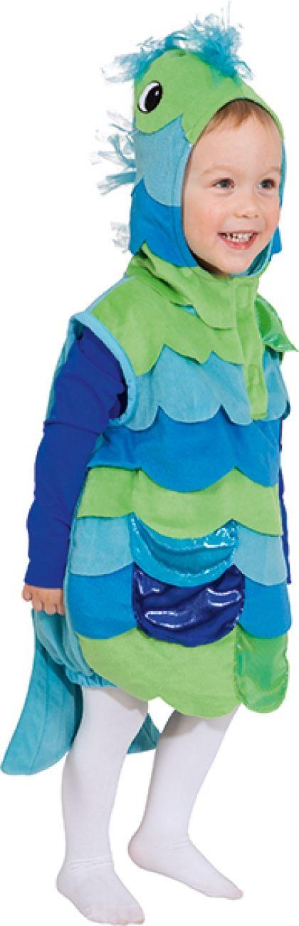 Fisch blau oder pink Gr. 104 Kinderkostüm Kinderweste Tierkostüm Kinde