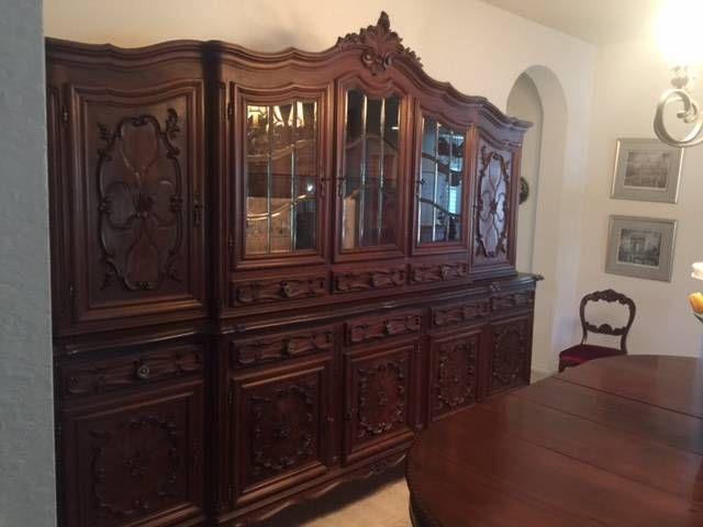 ~ Superb Italian Carved Walnut Bookcase, Dispaly Cabinet ~ ebay.ca