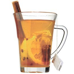 A Hotter Toddy - in a large cup, combine 1 spoonful honey, juice of ¼ lemon, 1 cinnamon stick, small dash cayenne (optional but recommended) and the tea bag of your choice. Stick 3 cloves into 1 small lemon wedge and add to the cup. Pour in a slug of bourbon, as much or as little as you like. Fill cup with boiling water, stir well and let steep 5 minutes. Savor slowly; repeat as necessary.