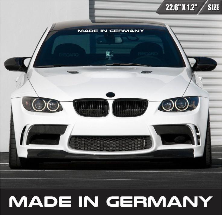 Made In Germany Windshield Sticker Vinyl Car Window