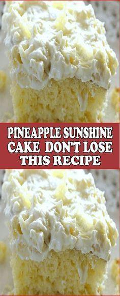 Ananas-Sonnenschein-Kuchen – Verlieren Sie dieses Rezept nicht!