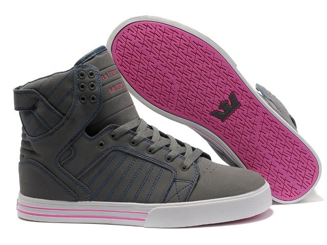 2013 Supra Skytop Mens Grey Pink Pattern Shoes.cheap supra shoes for sale online - www.24hshoesmall.com