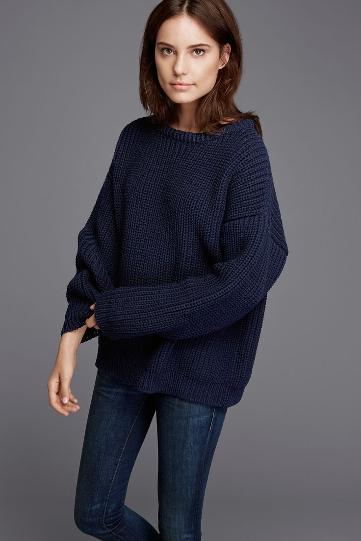 Image result for chunky navy blue sweater
