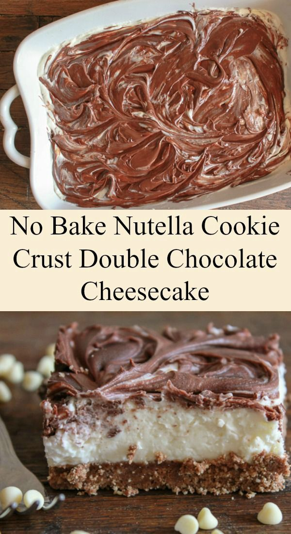 easy no bake nutella cookie crust double chocolate. Black Bedroom Furniture Sets. Home Design Ideas