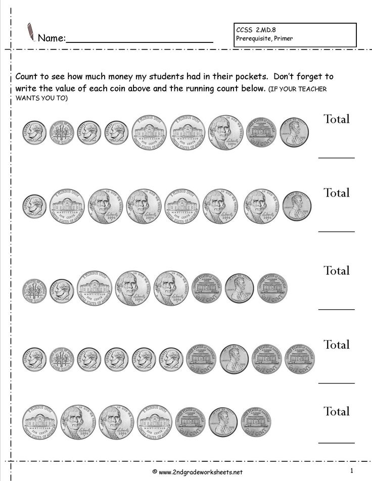 8 Best Counting Money Worksheets Images On Pinterest