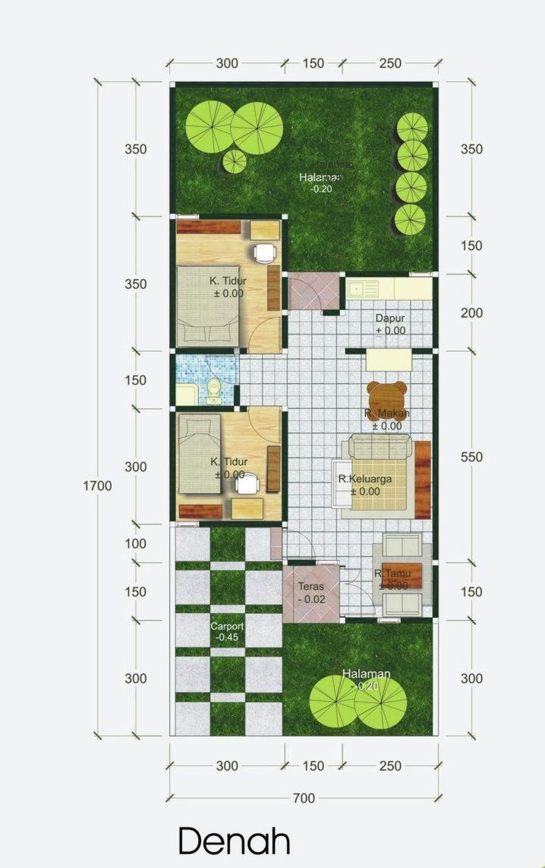 denah rumah type 60 5