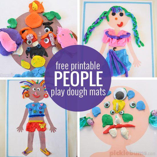 Free printable play dough mats - print all of our play dough mats for loads of play dough fun!