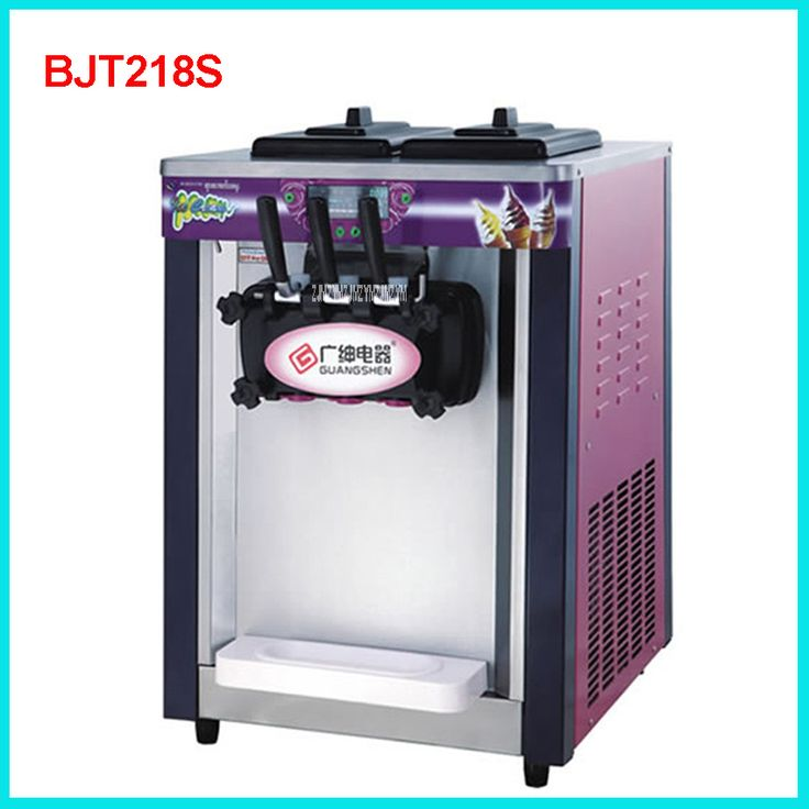 BJT218S Commercial Soft Ice Cream Machine 1800W 220V/50 Hz Ice Cream Maker 18-20L / H 3 Flavors Yogurt Cylinder volume  5.8L * 2 #Affiliate