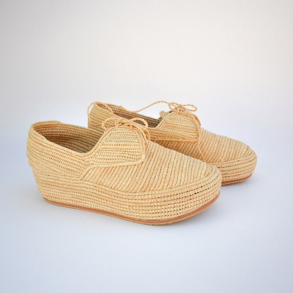 raffia espadrille wedge shoes