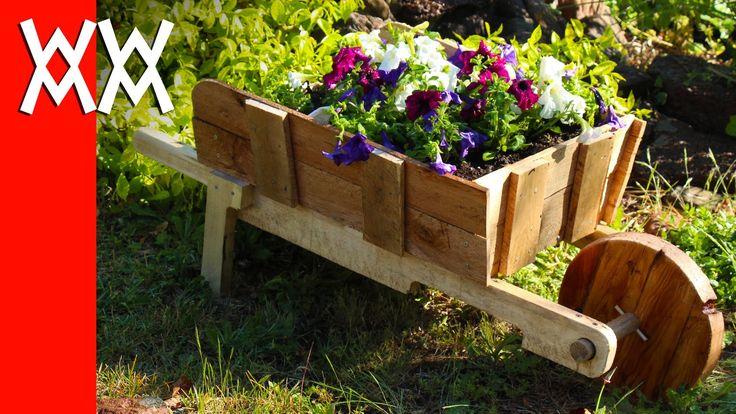 Make a rustic wheelbarrow garden planter. Easy DIY weekend project. - http://www.freecycleusa.com/make-a-rustic-wheelbarrow-garden-planter-easy-diy-weekend-project/