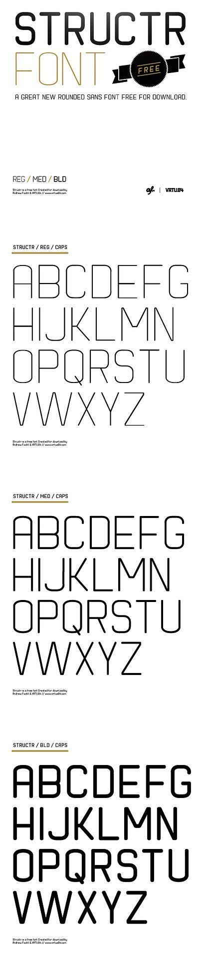 STRUCTR - Free Font