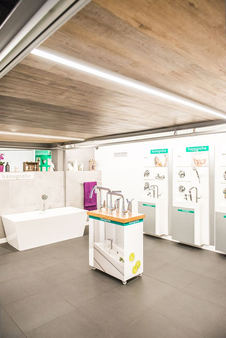 hansgrohe sanware department in the Florstore OnTrend showroom