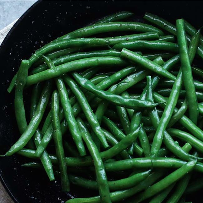 Boiled Green Beans Recipe with Butter Glaze