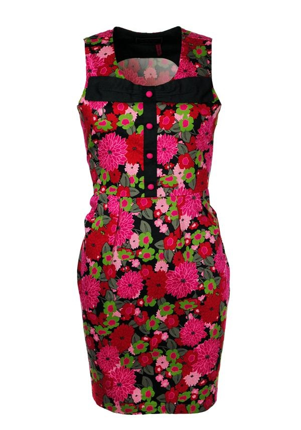 Rosalita McGee Beechwood Floral Dress, Multi