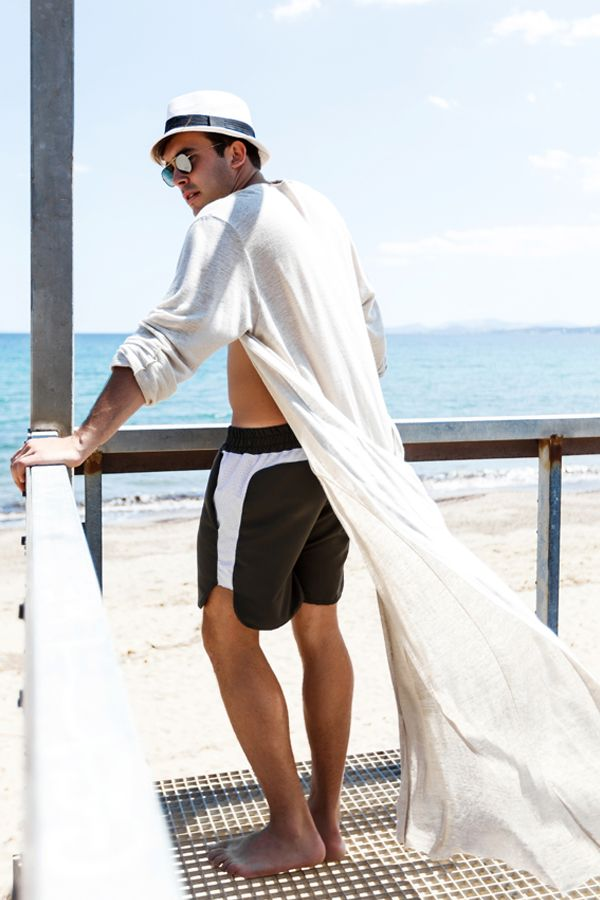 """Listen to the wind it speaks """"Lucca"""" cardie  #photoshoot #madeformen #homagetomanhood #boheme #urban #dantemen #dantemenswear #menswear #danter #sun #beach #sky #cardie #ss16 #linen"""