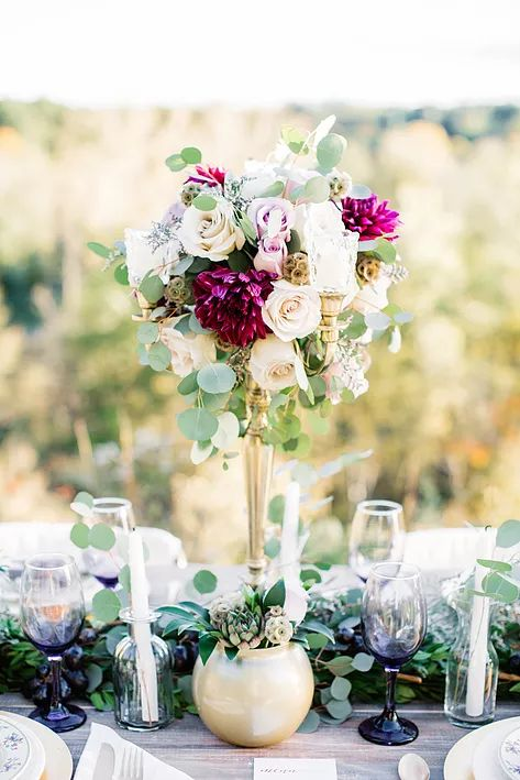 Michigan Wedding Florist + Photographer, Centerpiece Idea