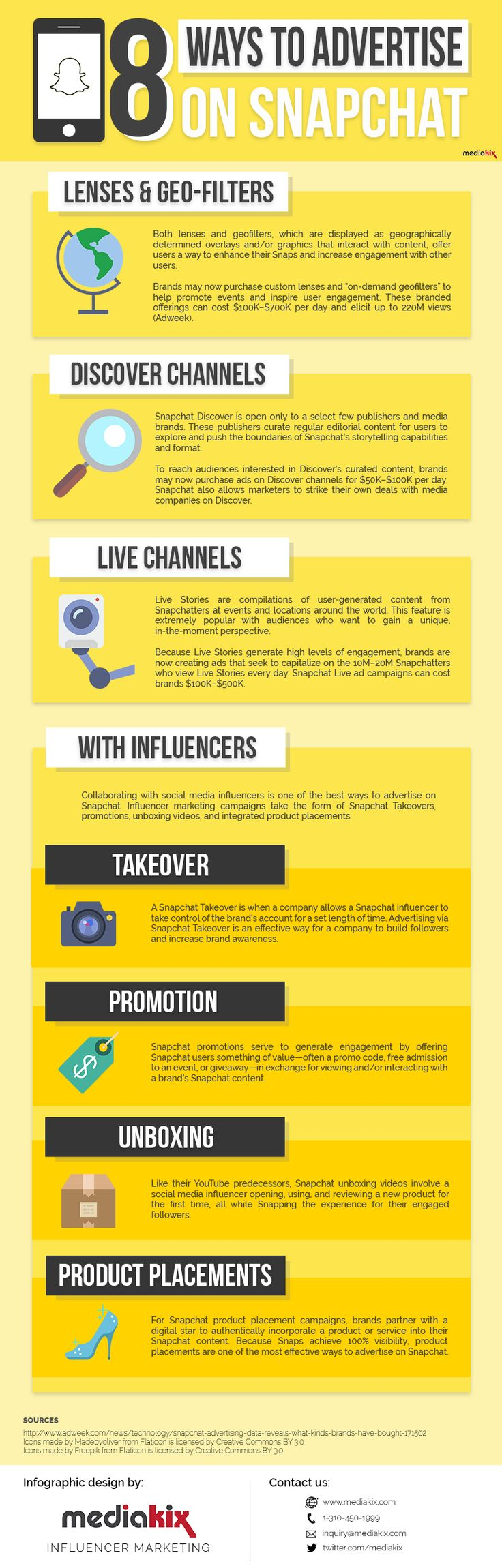 [Infographic] 8 Ways to Advertise on Snapchat