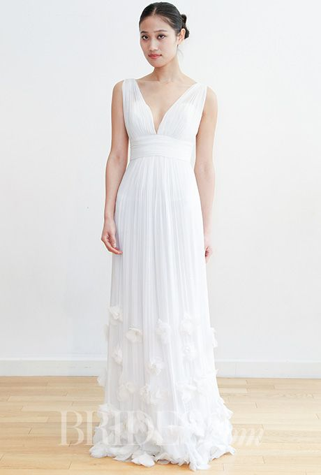 Brides.com: . Wedding dress by Leila Hafzi