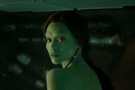 I GUARDIANI DELLA GALASSIA - VOL.2 Zoe Saldana al pre-trucco per diventare Gamora