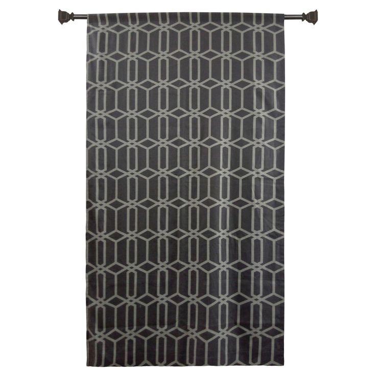 "Light Blocking Curtain Panel Gray (54""X95"") - Threshold"