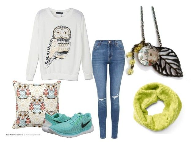 """""""owl"""" by hemos on Polyvore featuring Topshop, NIKE, Ralph Lauren, women's clothing, women, female, woman, misses and juniors"""
