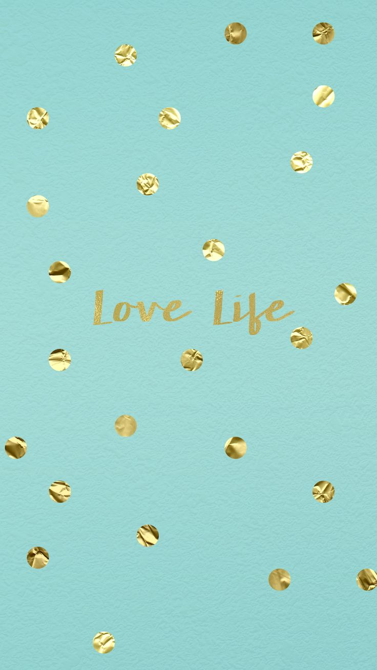 wallpaper, background, hd, iphone, gold, confetti, tiffany, blue, love, life