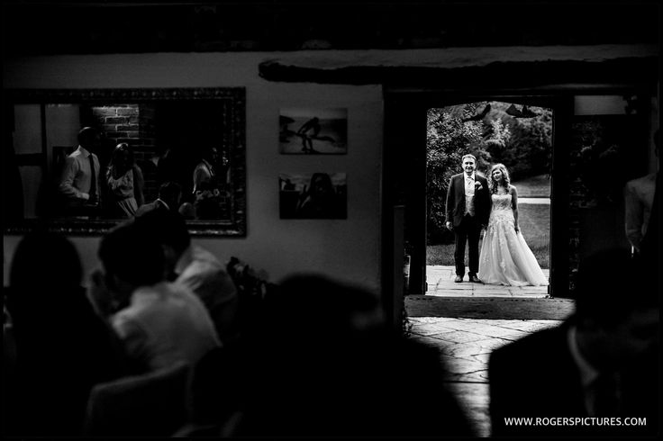 Veronica and Ilia ready to be announced into the wedding breakfast at Lainston House, more here -