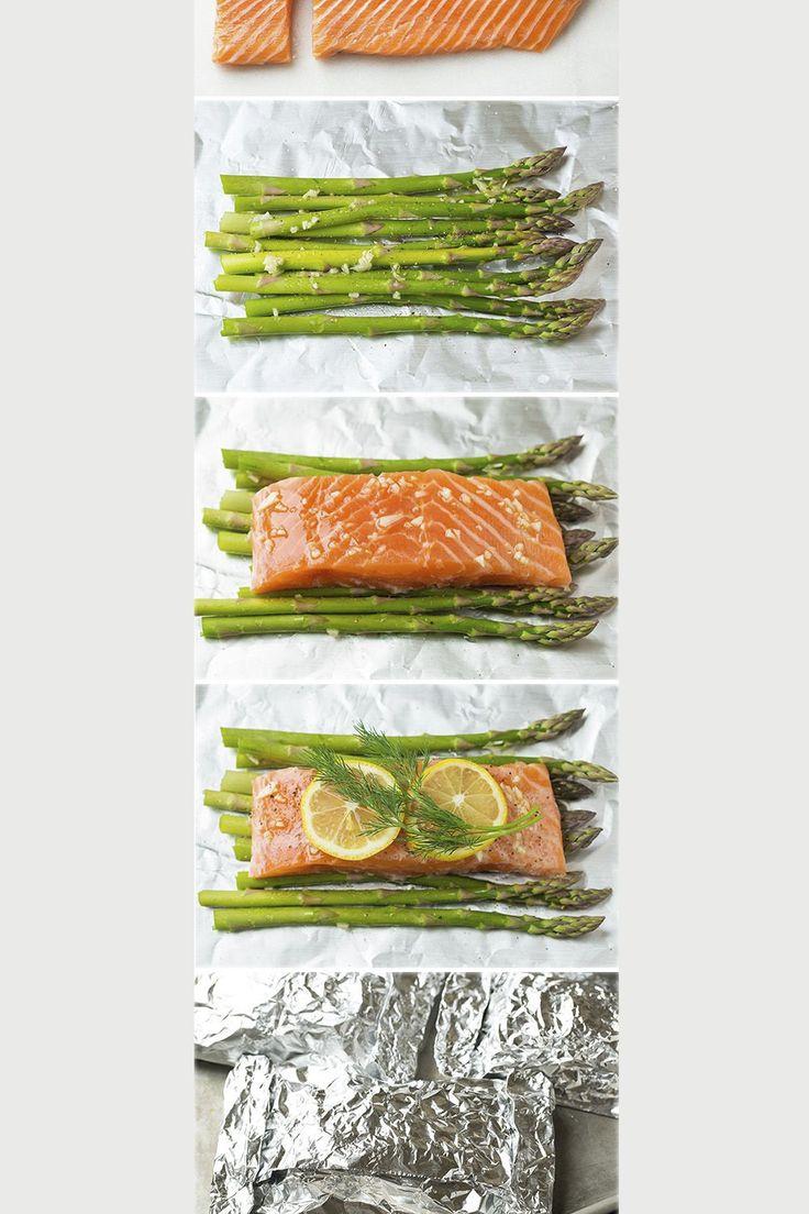 Dinner Date   Salmon + Asparagus