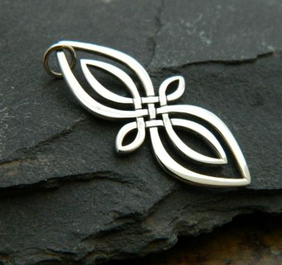 Sterling Silver Infinity Knot Silver Pendant. For sale at http://www.ninadesigns.com/bali_bead_shop/sterling_silver_celtic_knot_infinity_charm/a1178/details