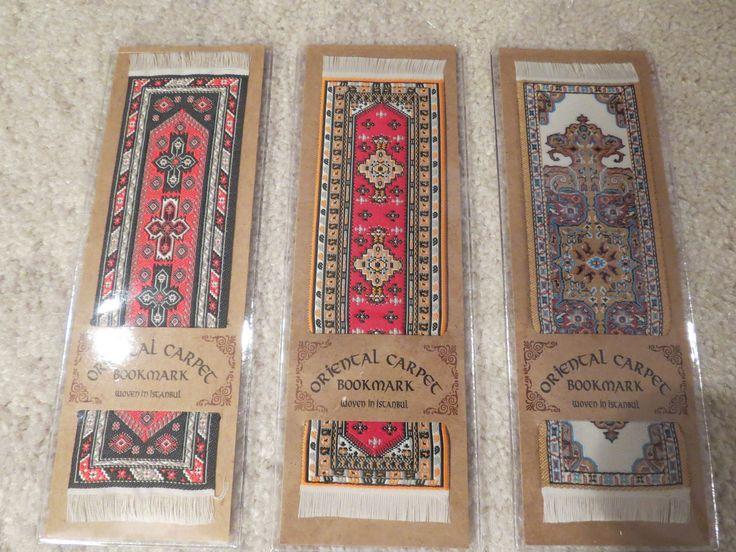 From left to right here are the Buhara (Ozbekistan, circa 1735), Tashkent (Turkmenistan, circa 1825) and Urumchi (China, circa 1690) bookmarks.