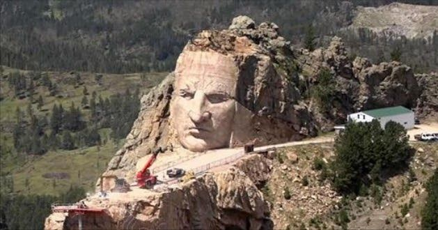 White Wolf : Monument Of Native American Hero 'Crazy Horse' Slowly Takes Shape In South Dakota