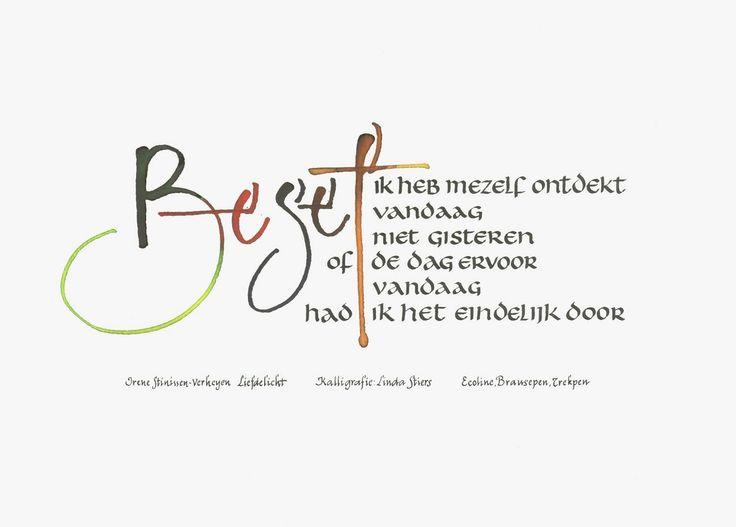 kadoosje: kalligrafie