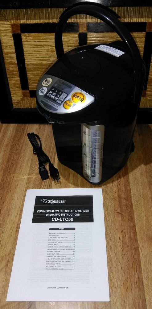 Zojirushi Commercial Water Boiler Warmer 5L Dispenser CD-LTC50 Tested Working  #Zojirushi