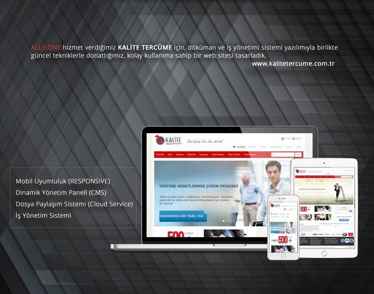 Mersin Kalite Tercüme yönetim panelli web site tasarımı. mobil uyumlu iş yönetim sistemi.